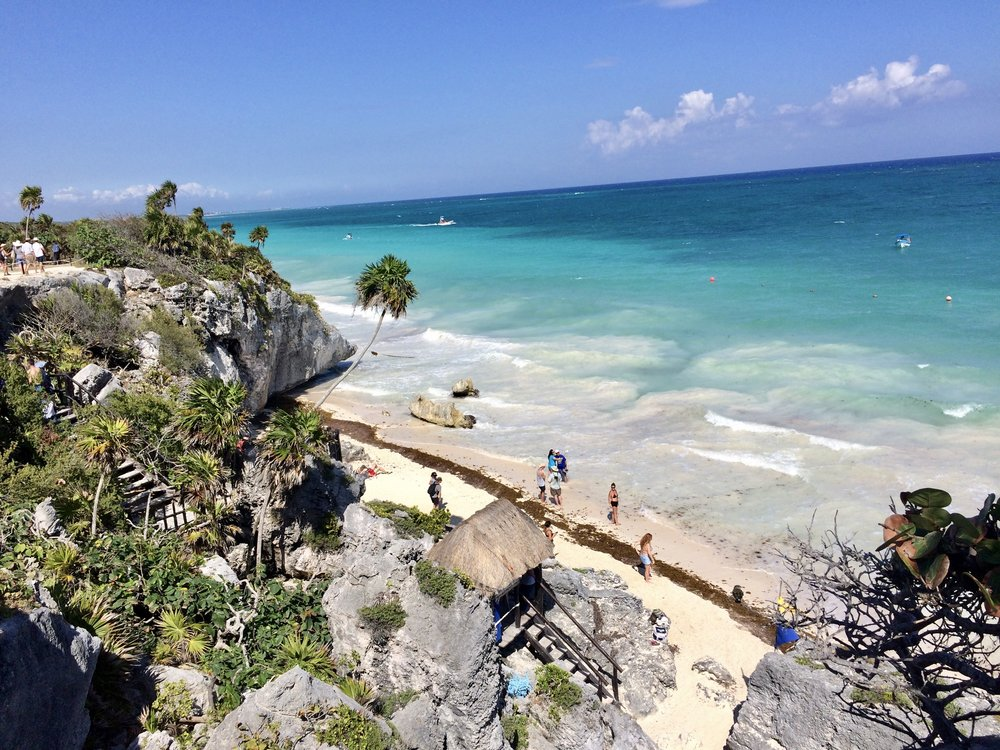 The white sands and blue waters of Tulum, an absolute gem!
