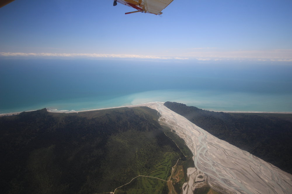View from the plane we jumped out of! Sky diving in Franz Josef, South Island, New Zealand.