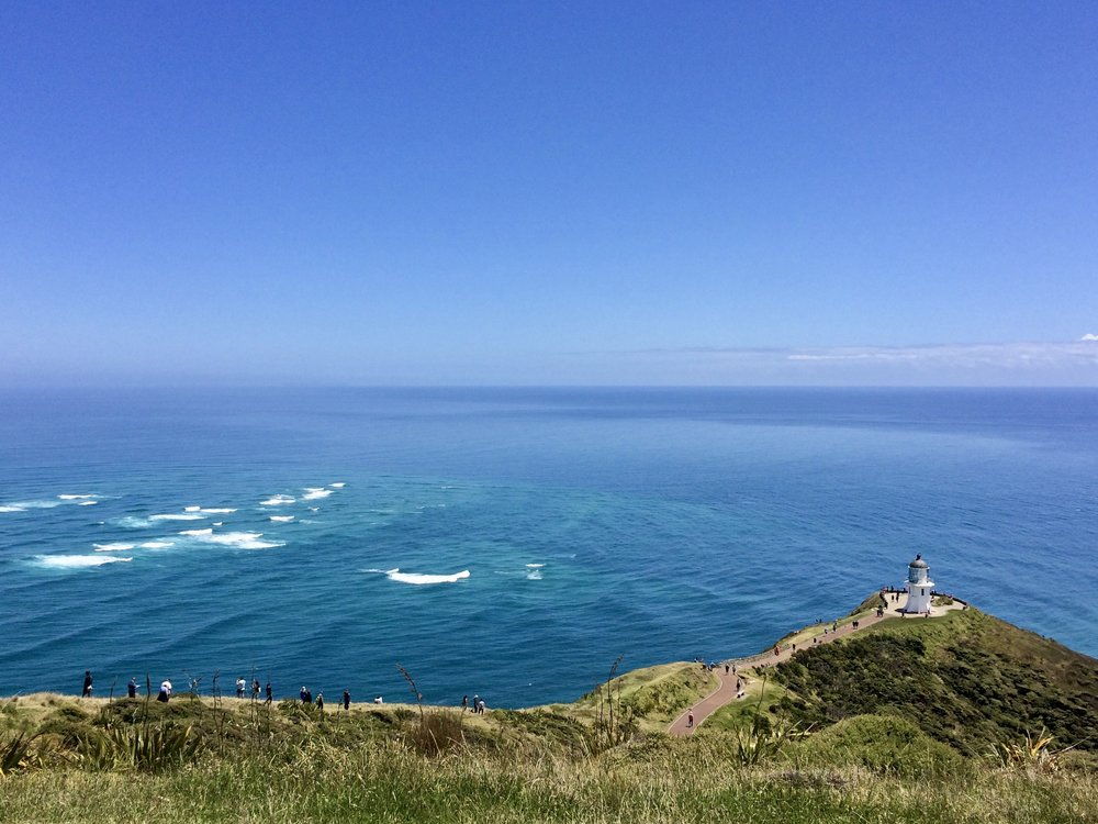 Cape Reinga, the most northerly point of the mainland.