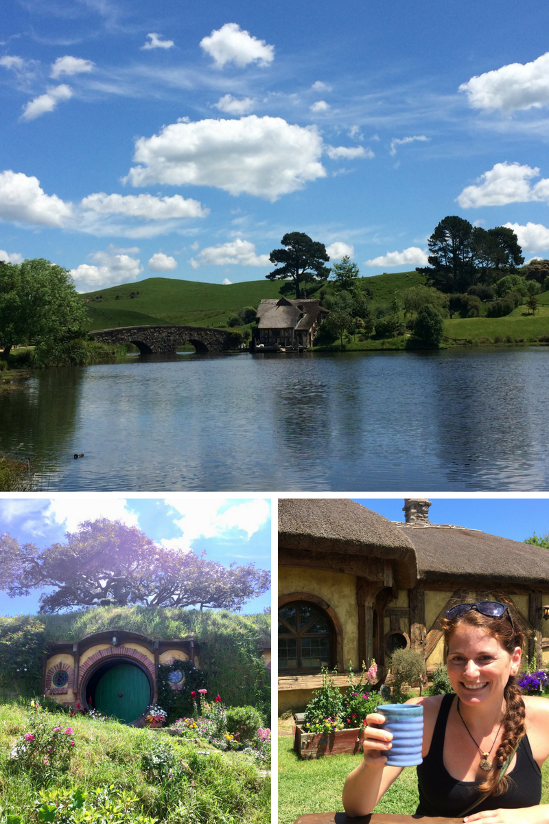 Enjoying the charms of the Shire, catching a glimpse of Bilbo's house and a drink at the Green Dragon!