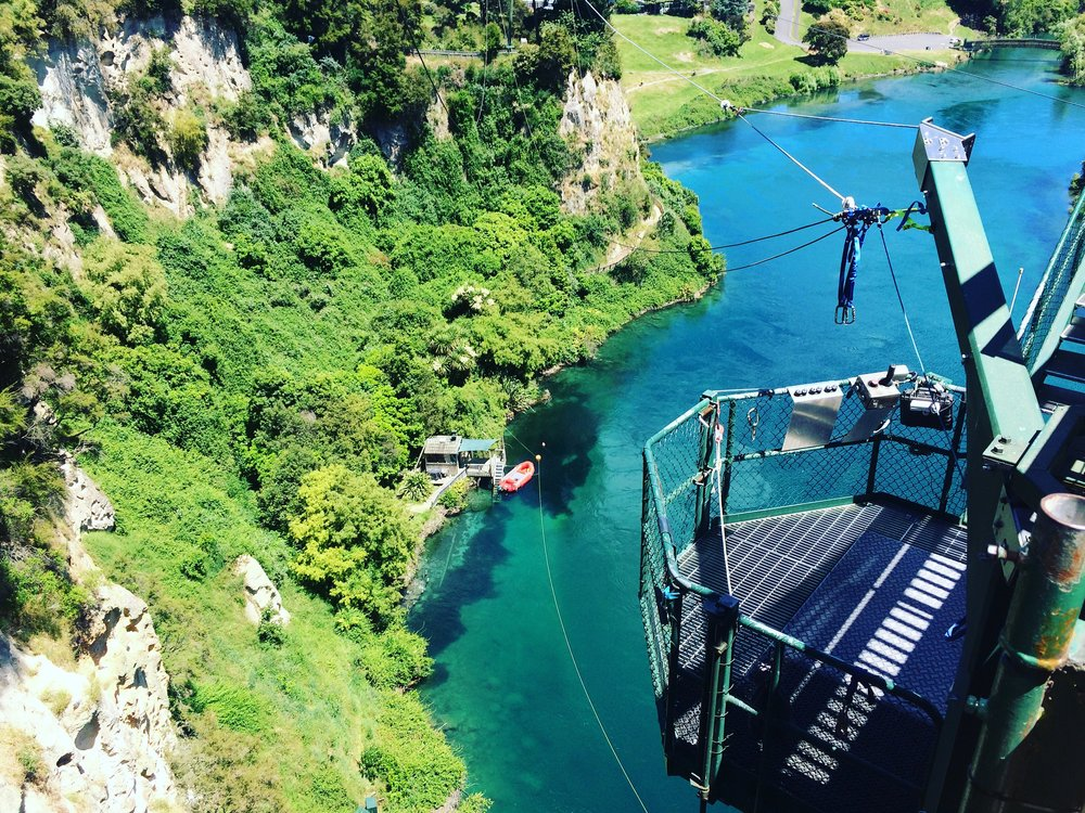 Extreme Swing in Taupo; my feet feel funny just thinking about it!