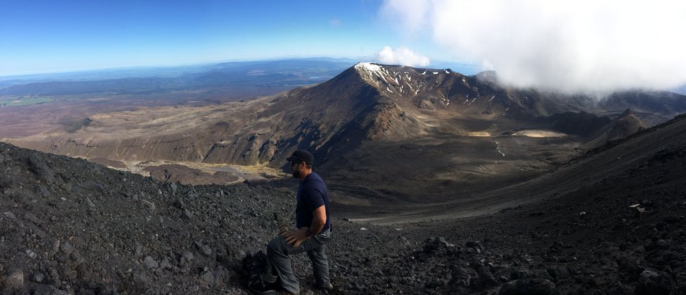 Halfway up Mount Doom on the Tongariro; beautiful views were the only good thing about this part of the day.