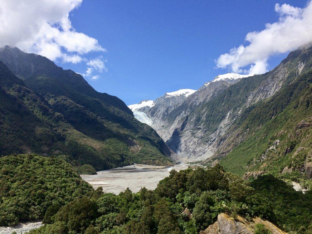 Hiking view point of Franz Josef glacier.