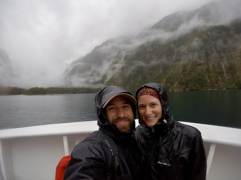 A very wet boat cruise on Milford Sound - we booked with Jucy and got a free hot bacon sandwich for breakfast too :)