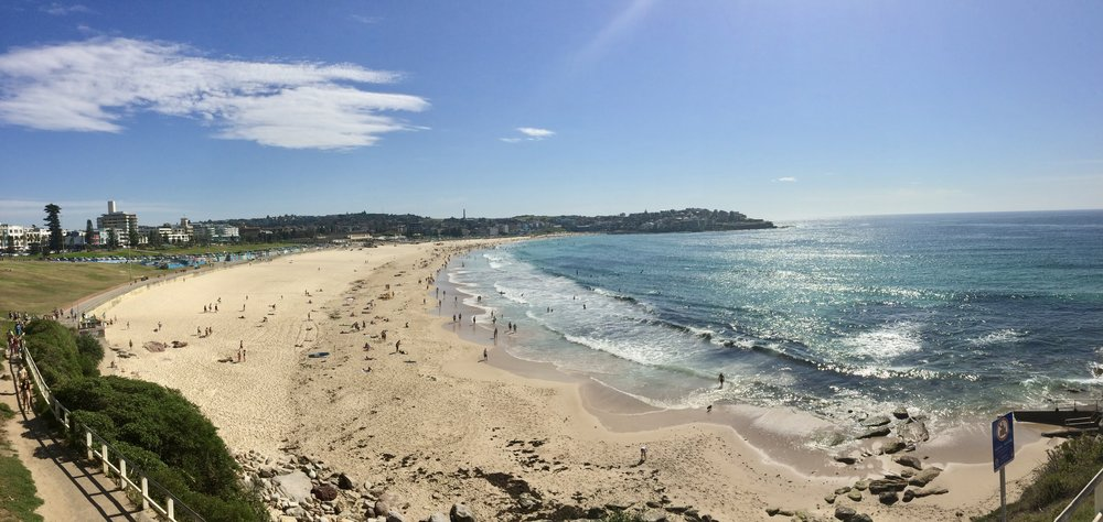 Lovely morning at Bondi Beach before the crowds arrive.