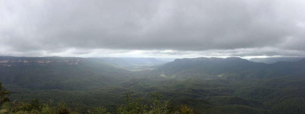 Sublime Point on an overcast and cloudy day.