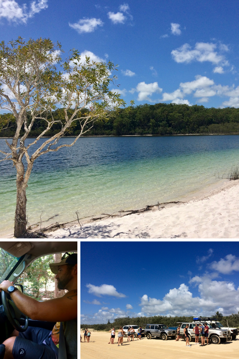 Exploring Fraser Island; 4WD, convoys and beautiful lakes.