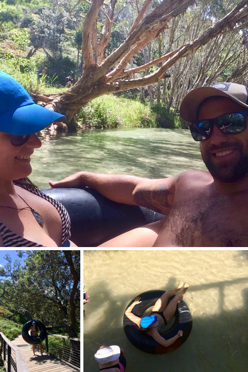 Refreshing lazy river at Eli Creek