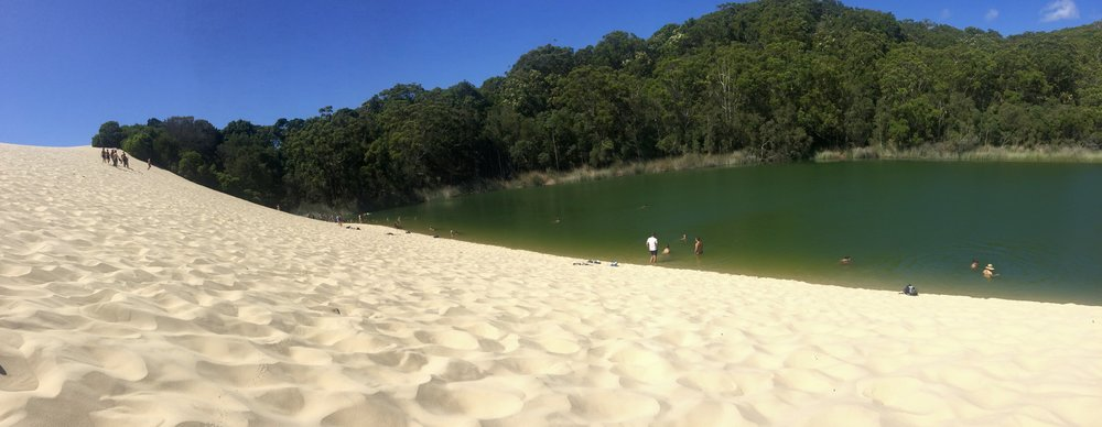Lake Wabby and the great big blistering hot sand dune!