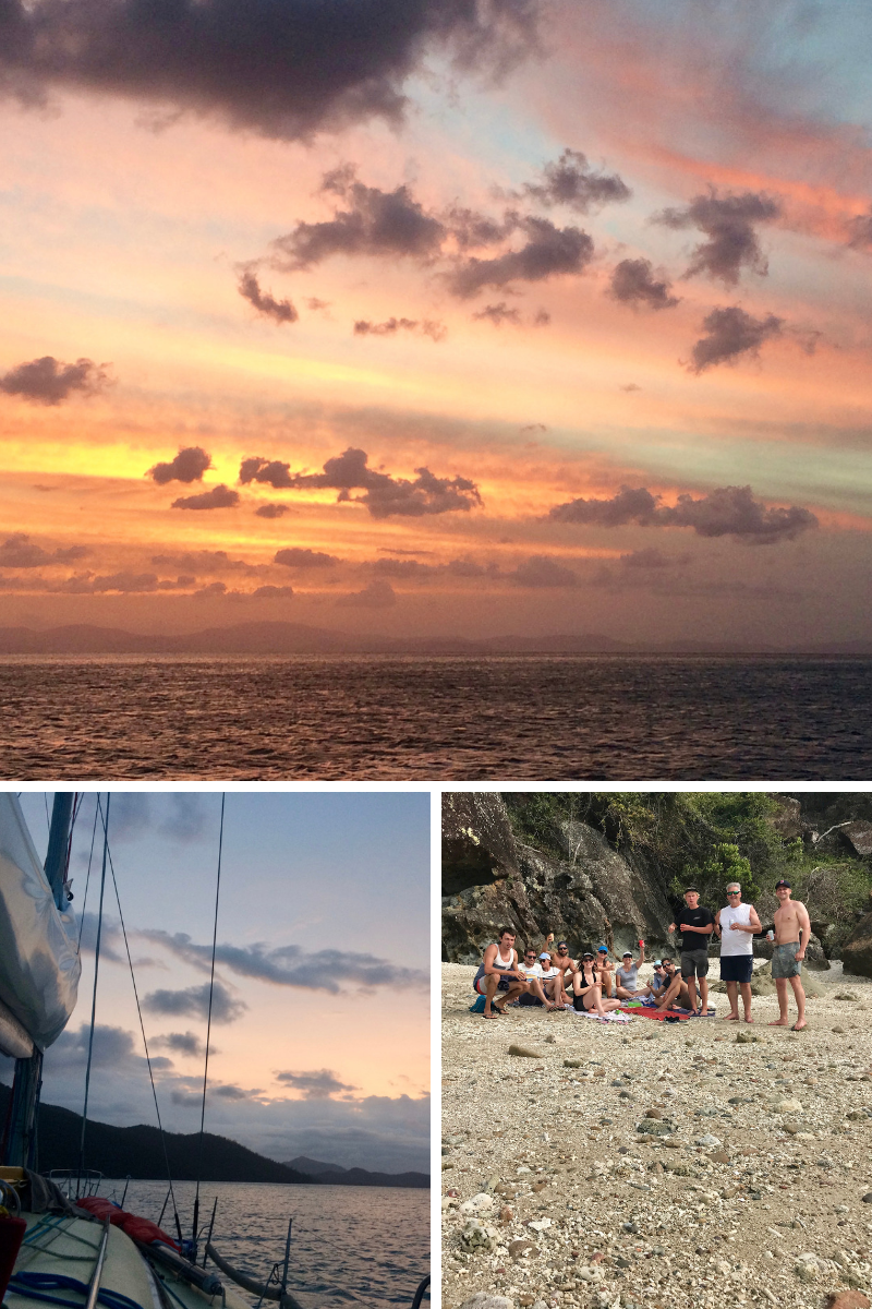 Gorgeous sunsets and great company on the Eureka II.