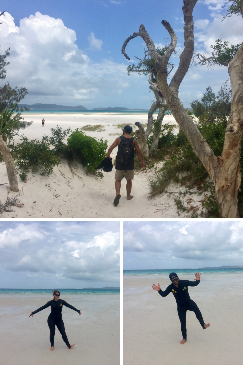 Whitehaven Beach - having fun in our super comfy and flattering stinger suits ;)