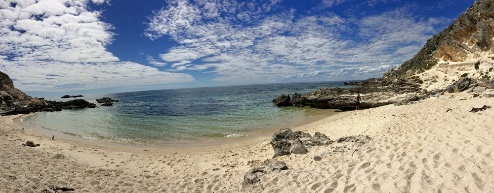 Private beach for a little snorkel and lunch break.