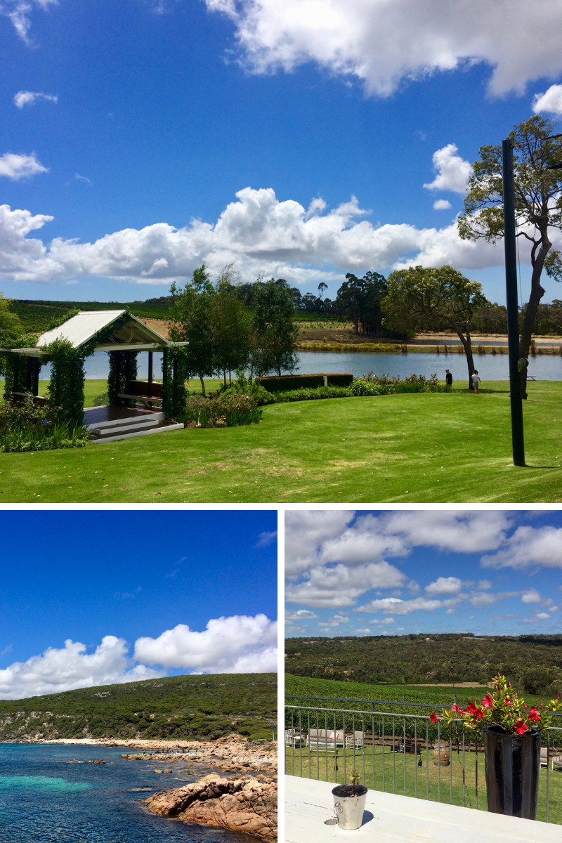 Wineries and lookouts in Margaret River and Dunsborough.
