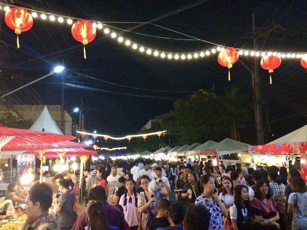 Wandering the night market in Phuket.