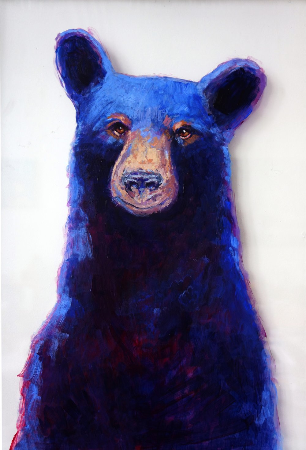 Black Bear on glass for someone special's birthday ;)