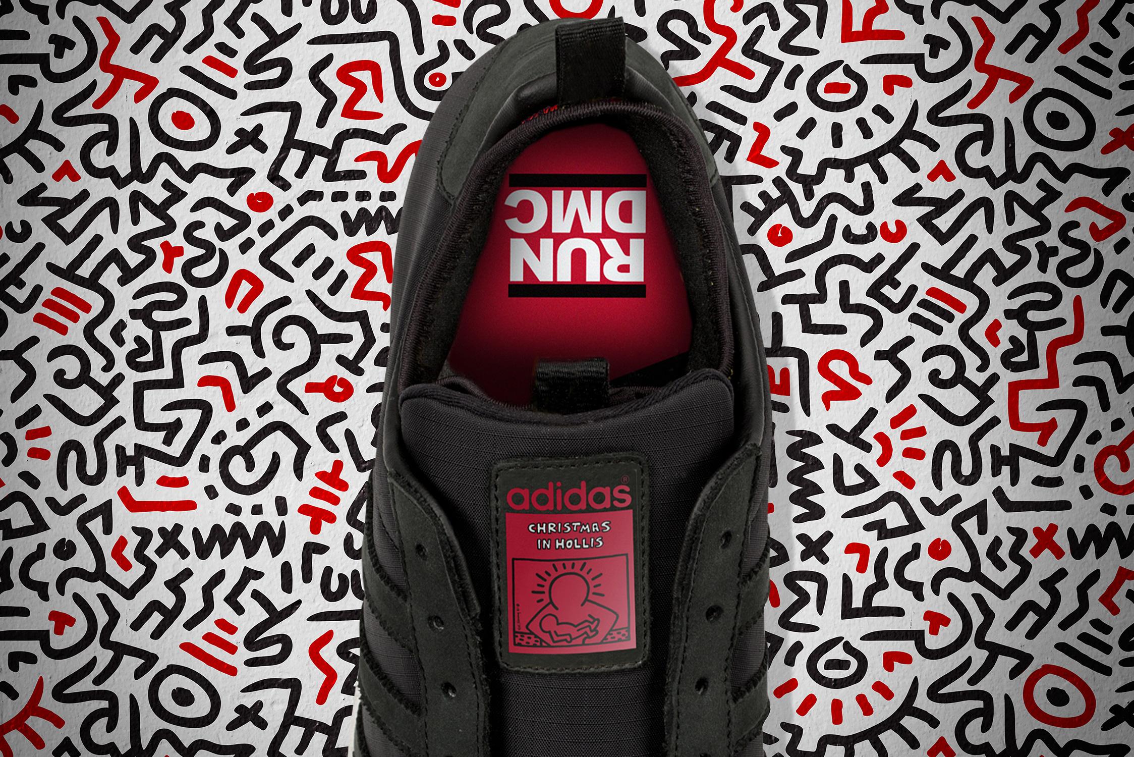 Eine weitere Blick auf die Run DMC x Keith Haring x adidas