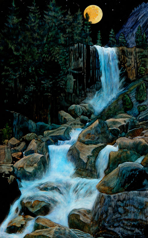 <b><i>Vernal Falls Moonlight,</b></i> Rick Wheeler