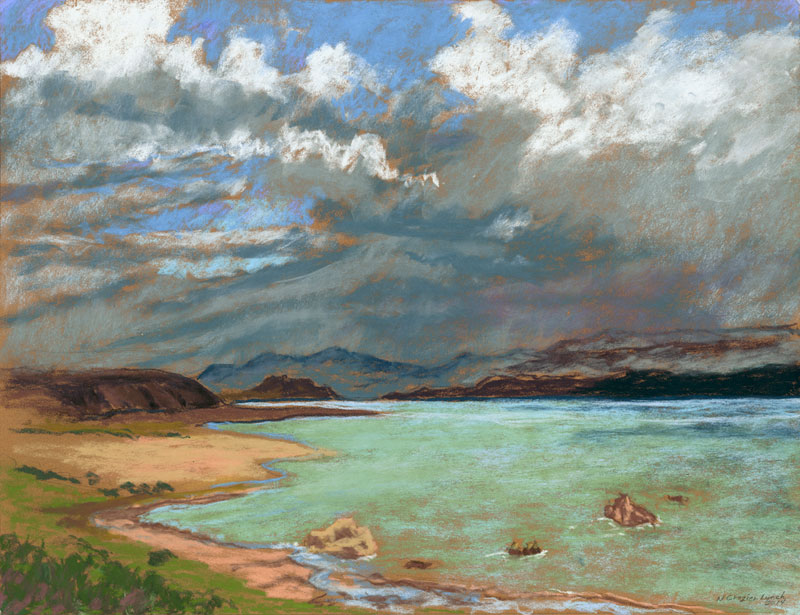<b><i>Storm Over Mono Lake,</b></i> Nancy Crozier-Lynch