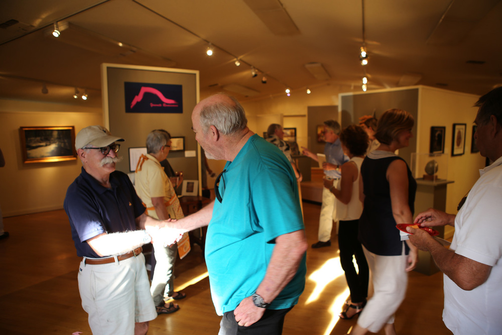 Visitors to the exhibit