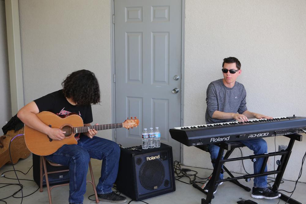 Tyler Richards on the keyboard, and Martin   Almaraz   on the guitar