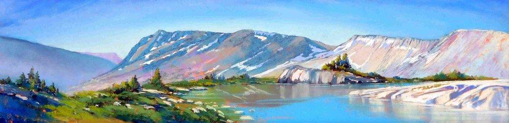 Turquoise Tarn, 20 Lakes Basin - soft pastel by Bonita Paulis