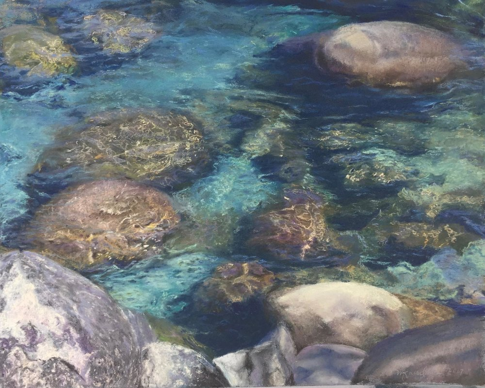 Lake Tahoe Rocky Shore, Mary Ann Shao