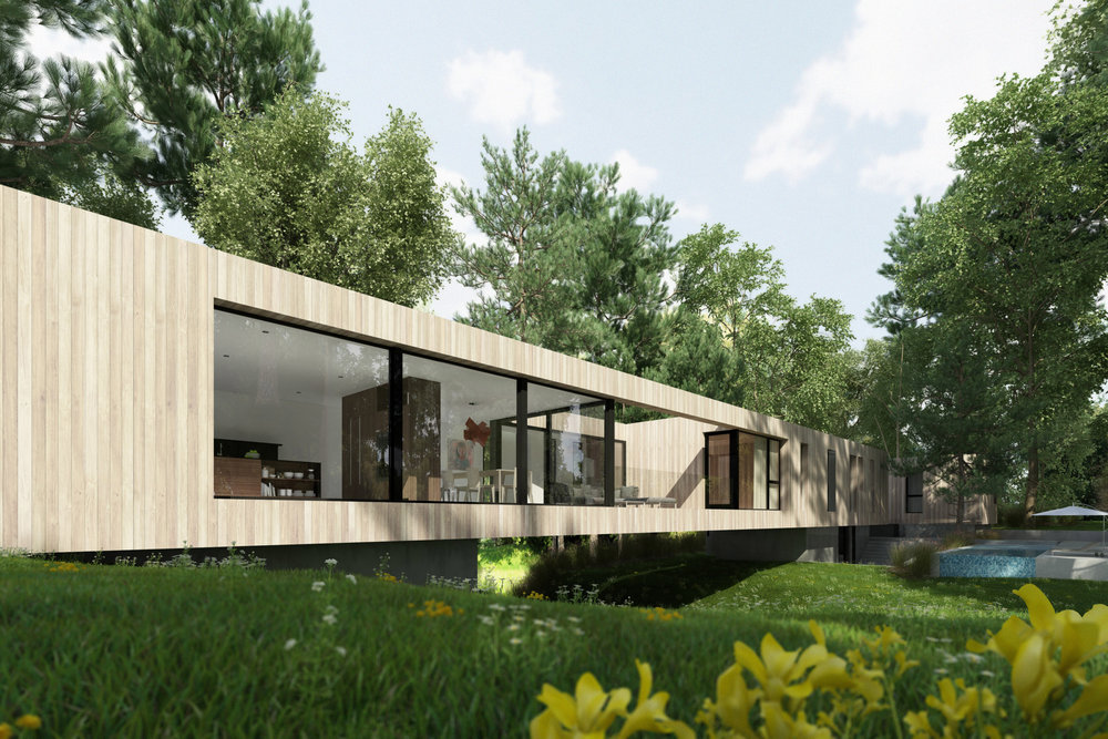 Bridge House render as it spans across the brook