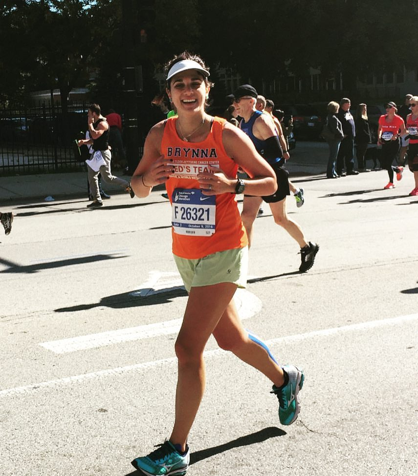 Brynna Lipson During her first of two incredible 2016 marathons.