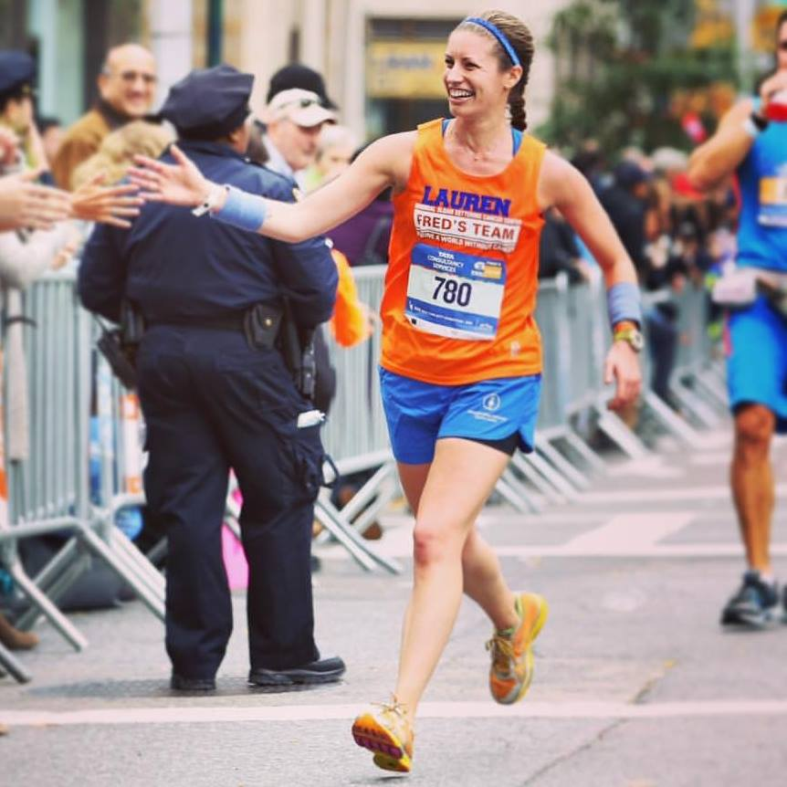 Completing the 2016 NYC Marathon.