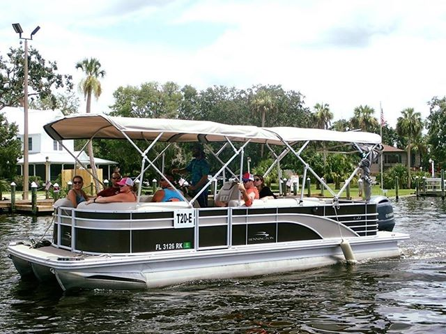 ON THE PONTOOOON! Having big fun on the VIP pontoon......if you want a comfortable ride, we've got it!! riverventures.com 352-436-8628