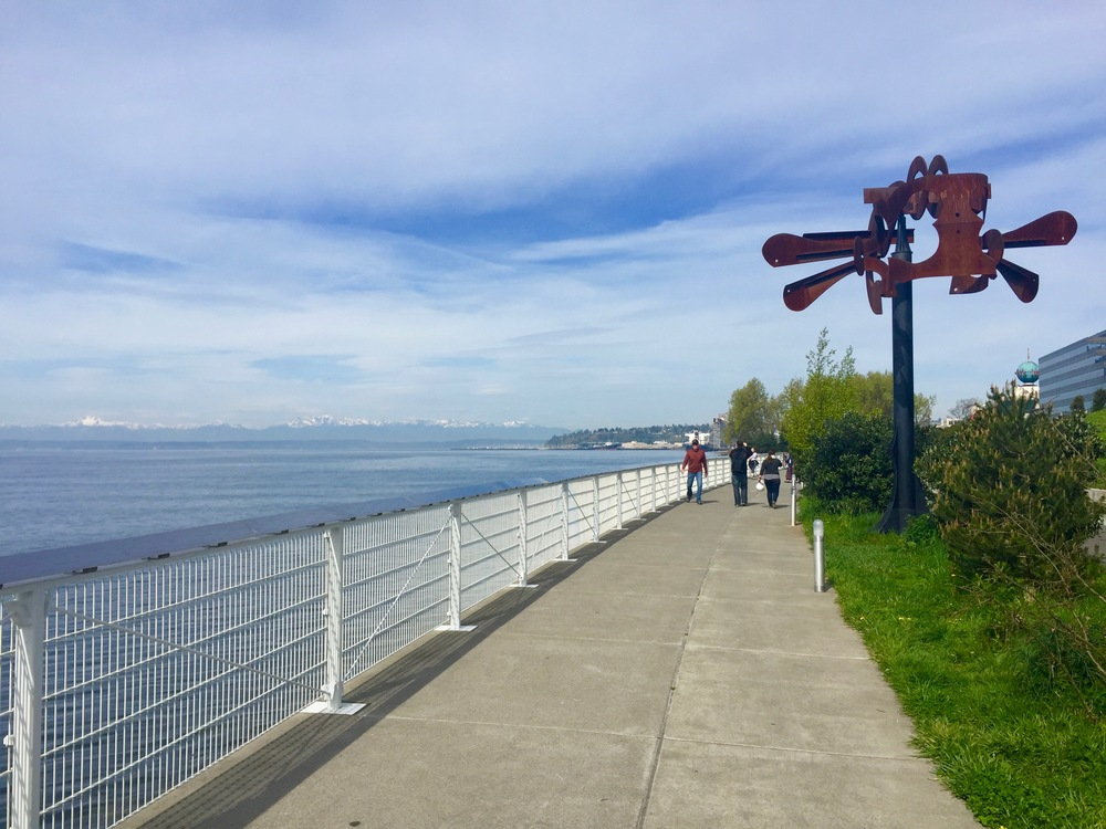Walk along the Seattle waterfront and look for seals along with art!