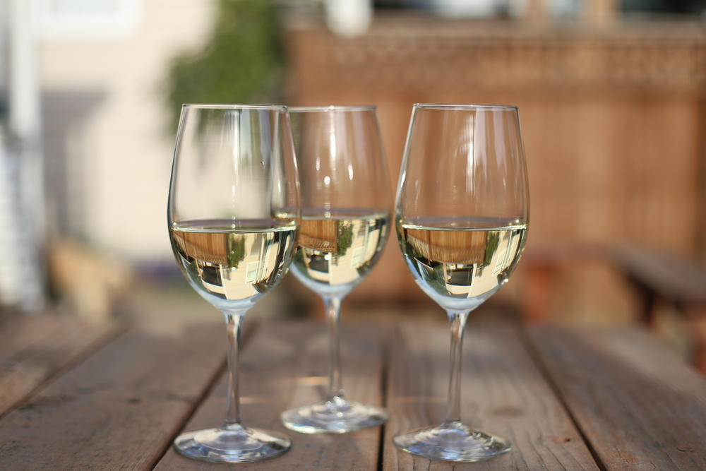 White wine is perfect for a sunny, warm day