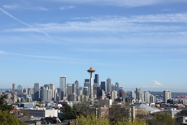 On a clear day you can see as far south as Mount Rainier. Or as Seattleites refer to it, The Mountain.