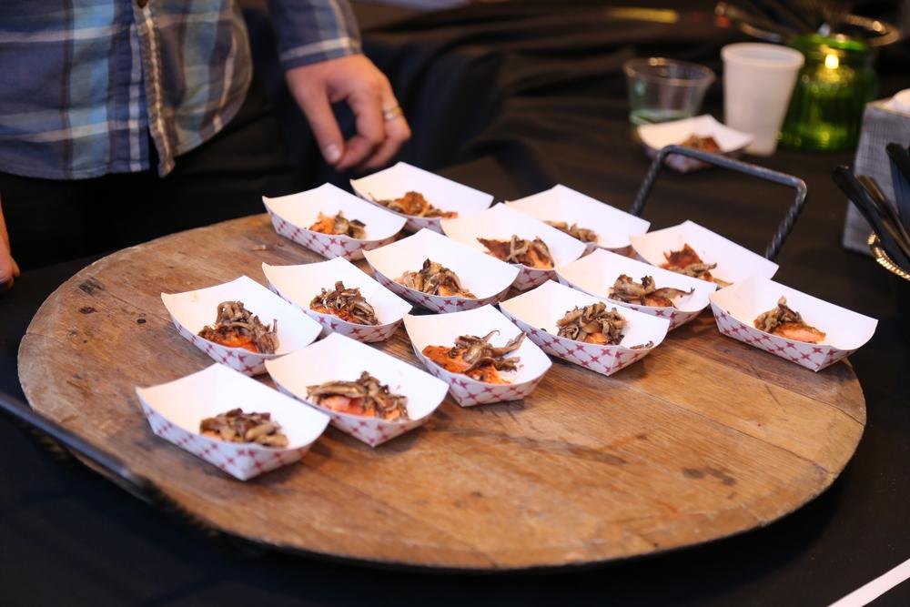 Etta's BBQ'd salmon with mushrooms.