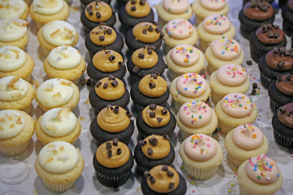 Mini cupcakes from Cupcake Royale (Salted Caramel FTW!)
