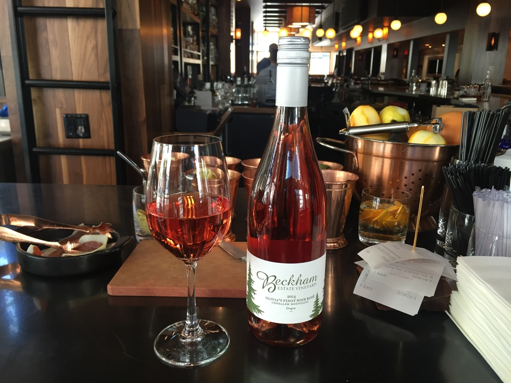 Picture by Amy L. Dickson: Beckham Estate Vineyards 2014 Oregon rosé made from pinot noir; $12/glass at Heartwood Provisions.