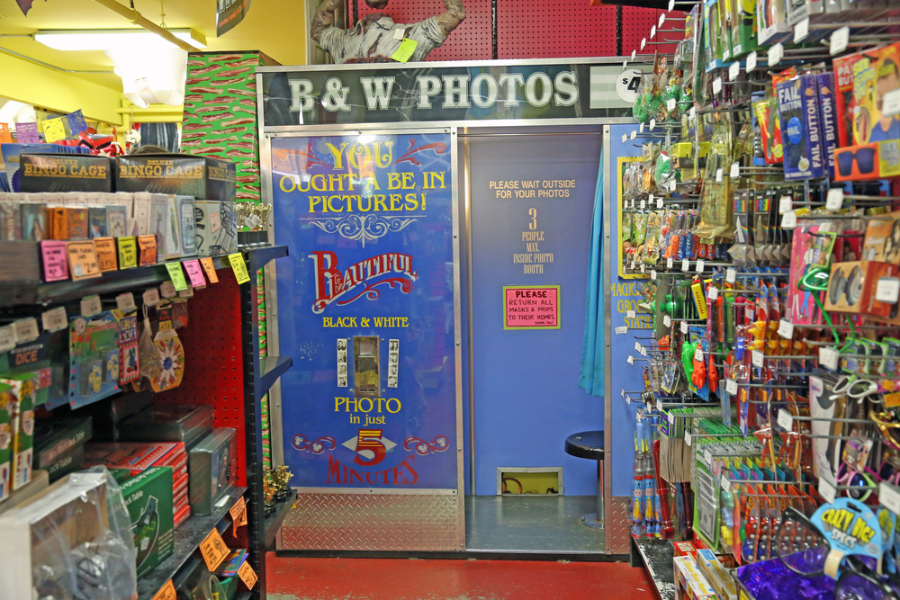 The photobooth at Archie McPhee