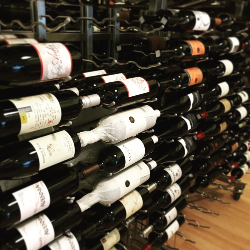 Wine selections at Bin 41