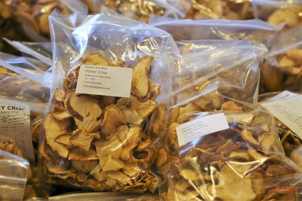 No sugar added Apple Chips from Simply the Best Dried Fruit