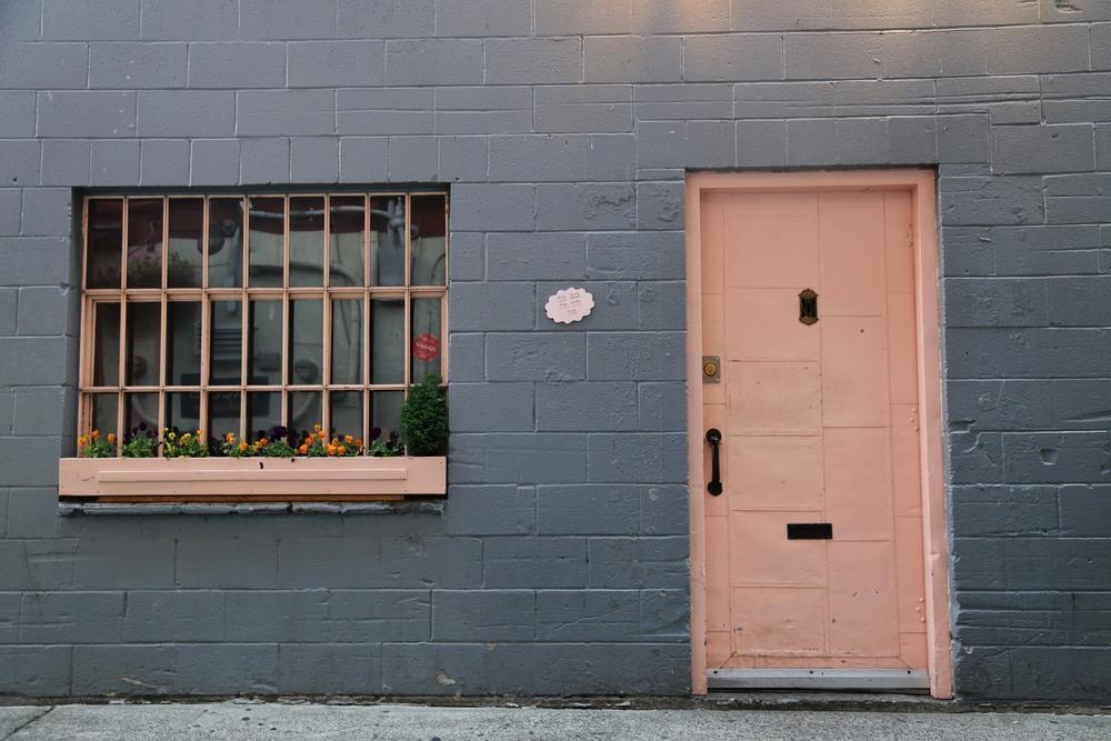 The literal pink door