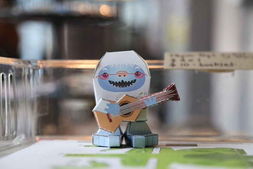 Paper toys at Chin Music Press