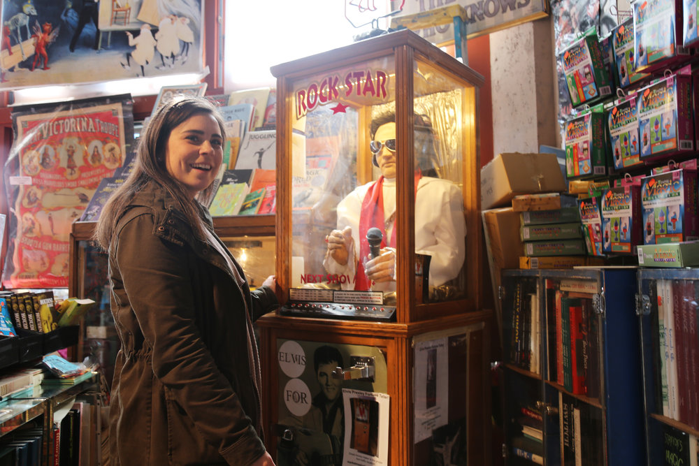 Get your fortune told at the Market Magic Shop! Elvis knows best.