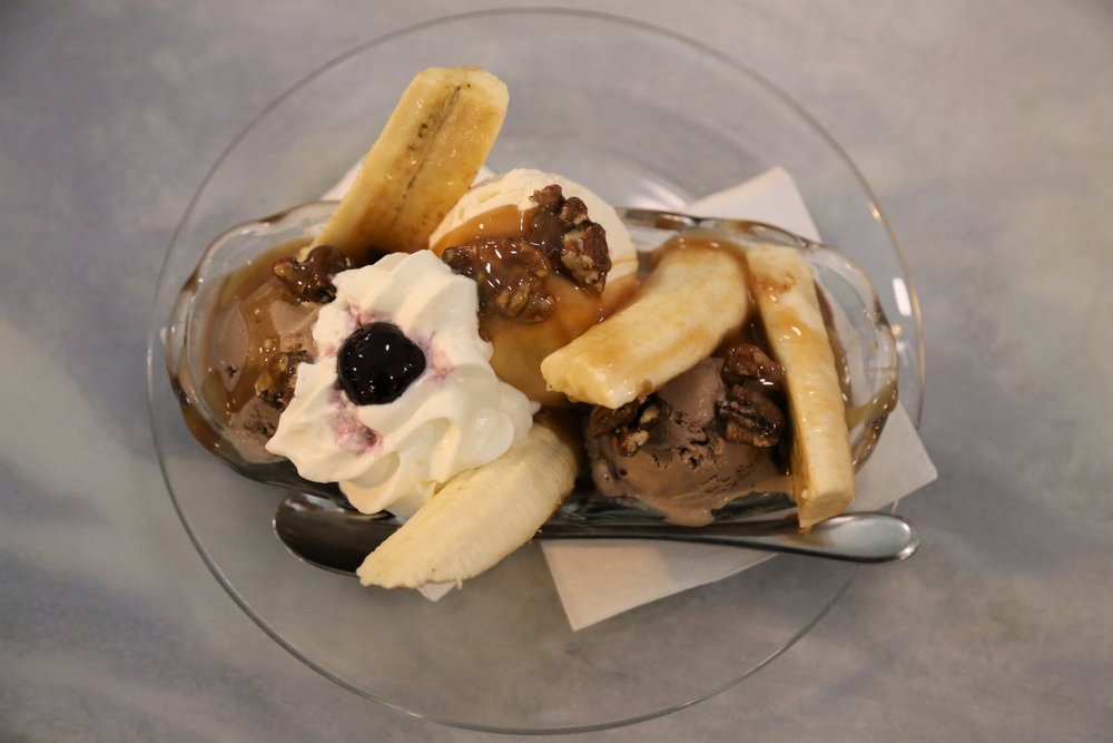 Shug's Banana Split (Has fruit in it. Obviously Kristina's choice.)