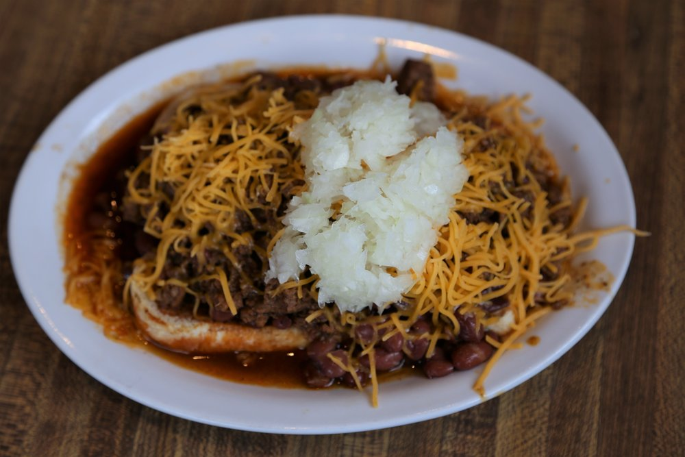 Messy but delicious - Mike's chili dog