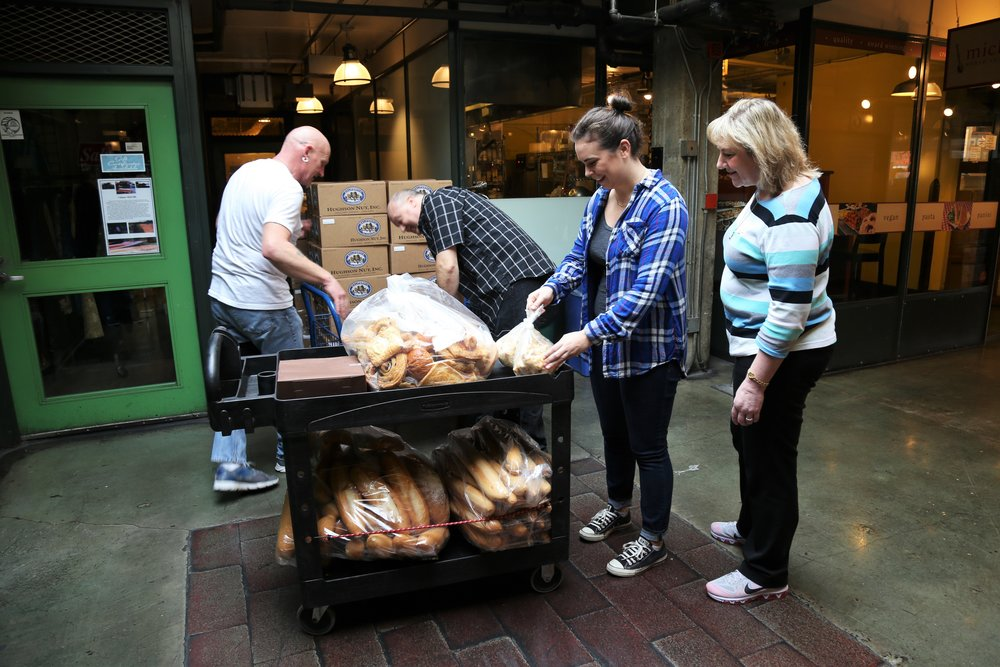 Volunteering at Pike Place Market Food Bank