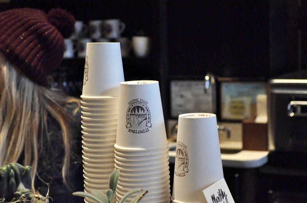 stumptown coffee cups