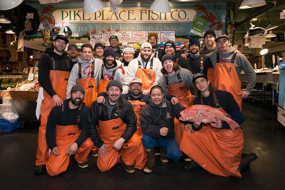 The crew of Pike Place Fish