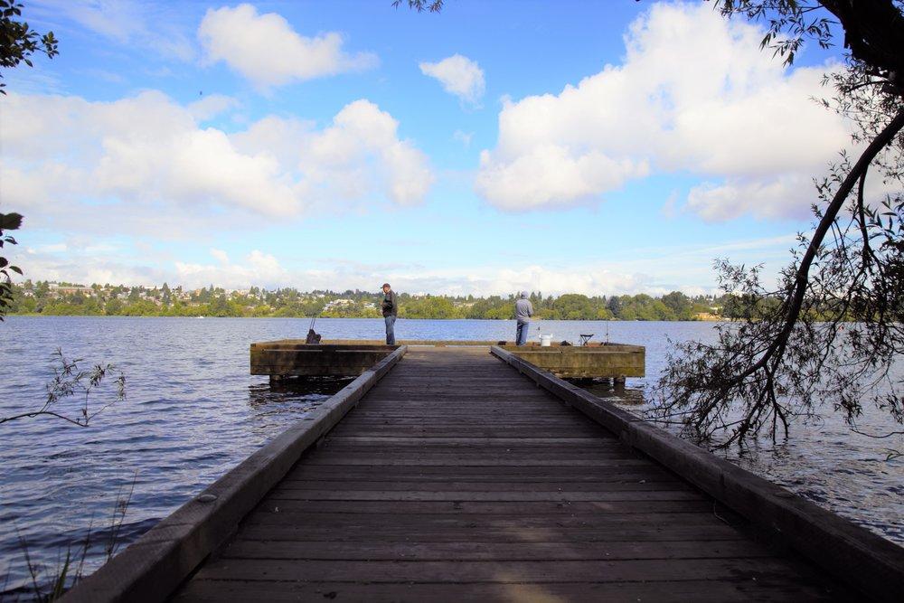 Fishing at Greenlake