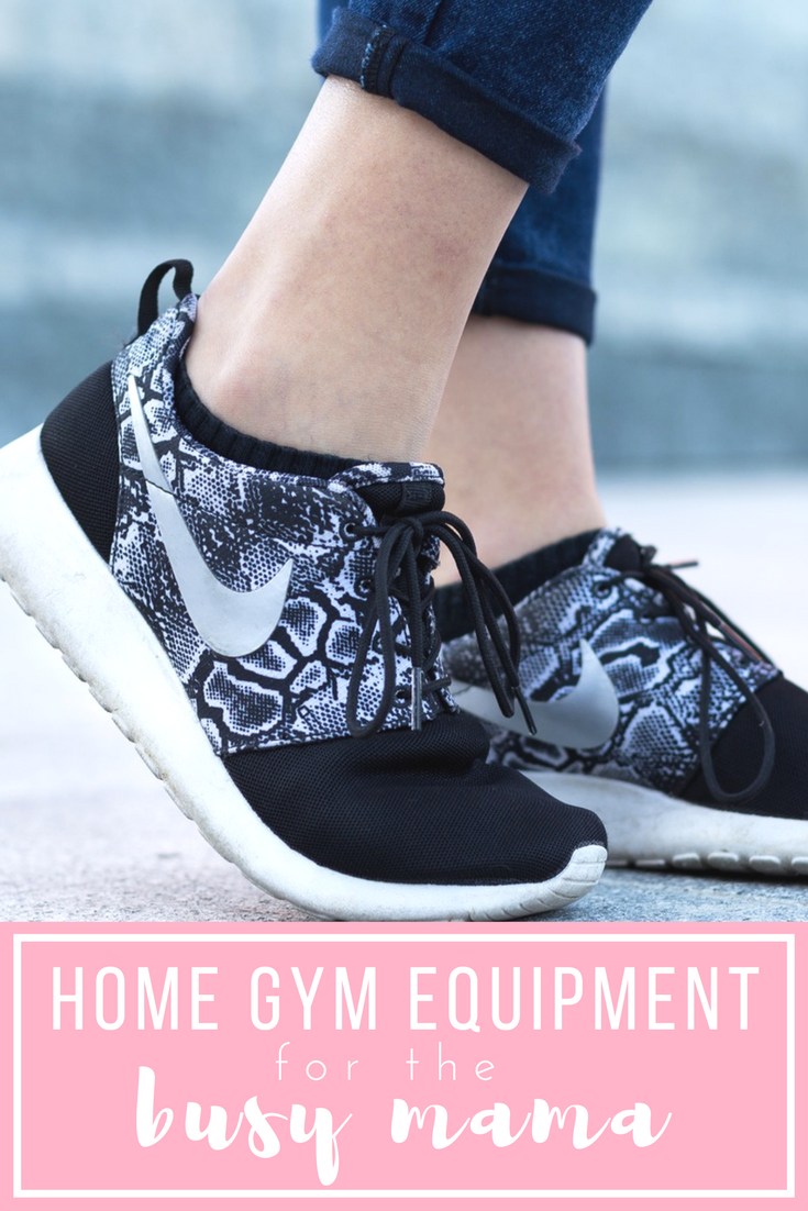 home gym equipment for the busy mom! workout at home with minimal equipment. lose postpartum weight by working out at home.