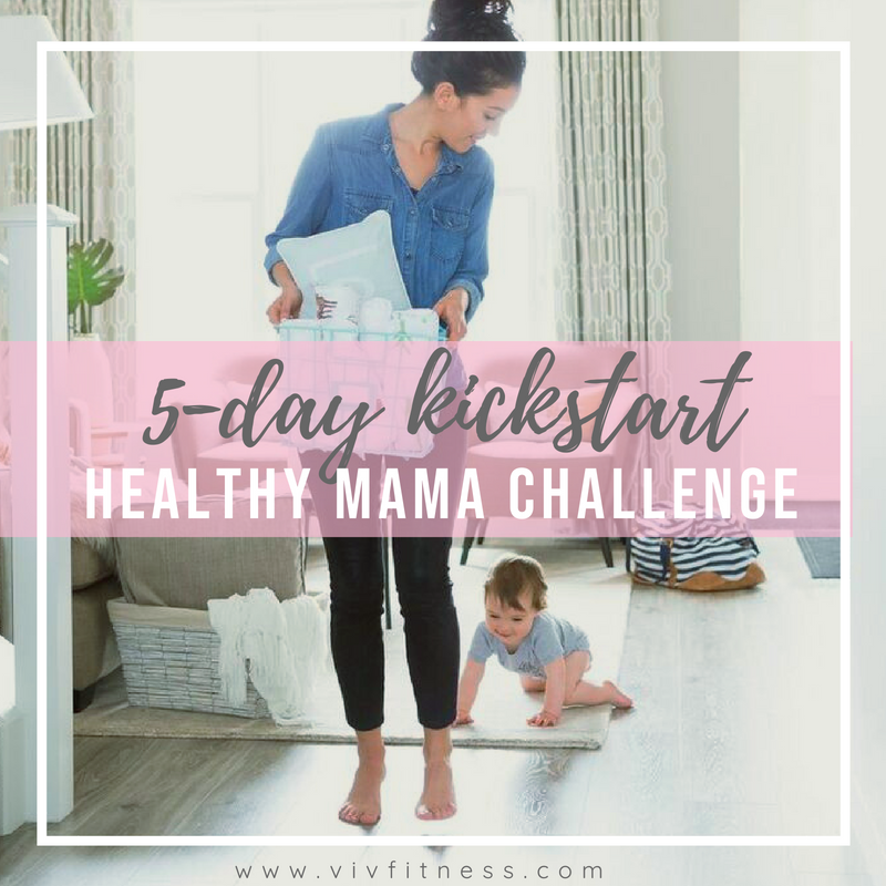 FREE 5-day challenge! Healthy mama kickstart is perfect for you if you are trying to improve your health habits, but aren't sure where to start! Are you a busy mom who wants more energy? Sign up for this free challenge!